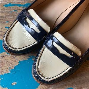 Kate Spade patent leather penny loafers flats EUC